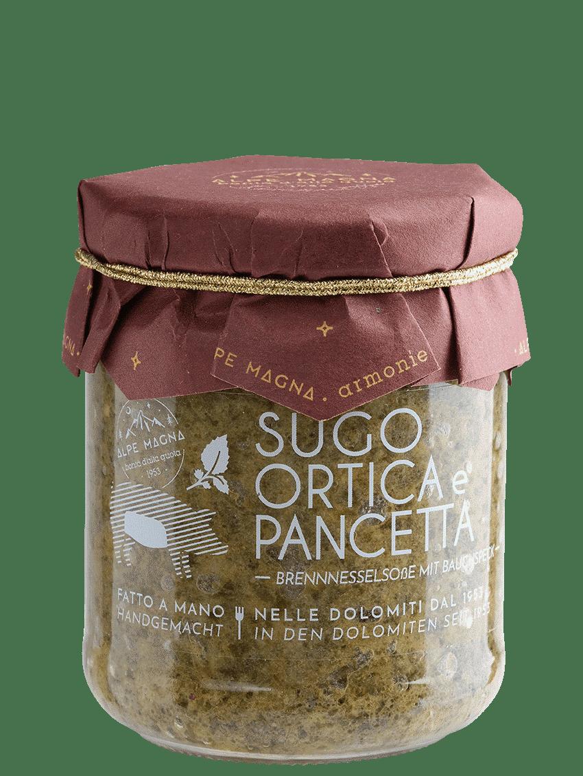 Sugo ortica e pancetta